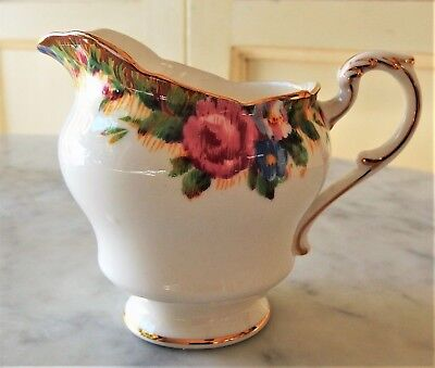PARAGON FINE BONE CHINA England Vintage, Milk Creamer Jug, Pink Rose & Flowers