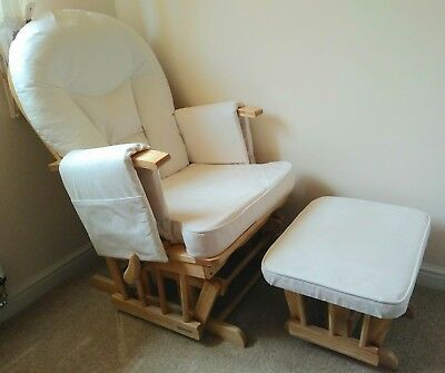 Bambino Supremo Nursing Maternity gliding rocking chair with matching footstool