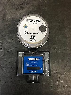 Badger Model 40 Water Meter Pulse Register And Remote Package. Cubic Feet