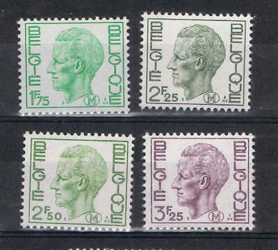 Belgium 1970 1975 Military issue stamps to 3.25 francs  MNH