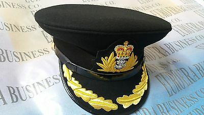 New UK Royal Navy Officer Hat, Royal Navy Captain Cap In All Sizes Available