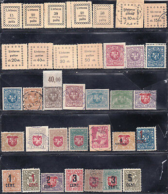 Lithuania - Valuable Collection - All Older - Many Better - Look!