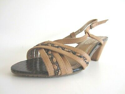 R8A Spot On Ladies Nude Strappy Platform Wedge Heel Shoes F1R942