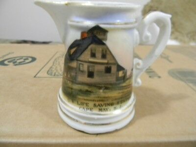 Antique Hand Painted in GermanyCape May NJLife Saving StationSouvenirCreamer