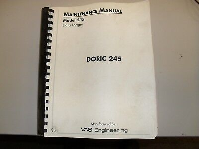 Doric 245 data logger maintenance manual & operators manual