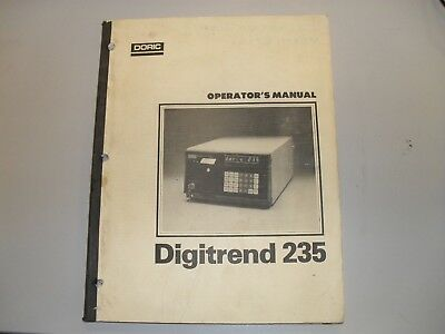 Doric 235 Digitrend data logger operators manual
