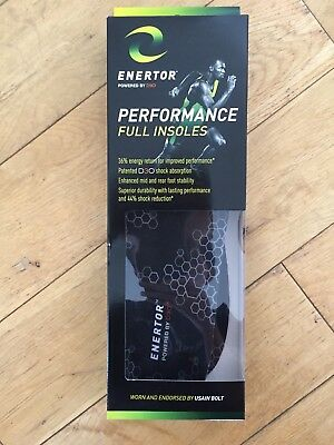 Enertor Performance Full Running Shoe Trainer Insoles - Size 10UK