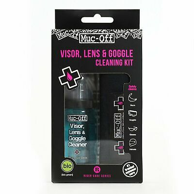 Muc-Off Visor Lens And Goggle Cleaning Kit Portable Helmet Cleaner Visor Cleaner