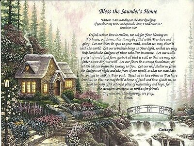 """Prayer to Bless the Home"" with the Family Name & Scripture"
