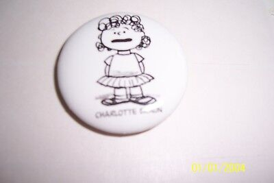 "SDCC ""Lucy"" pin (Peanuts). 2008. NEW ,1 1/4"" dia."