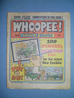 Whoopee issue dated November 9 1974 Ken Reid World Wide Weirdie