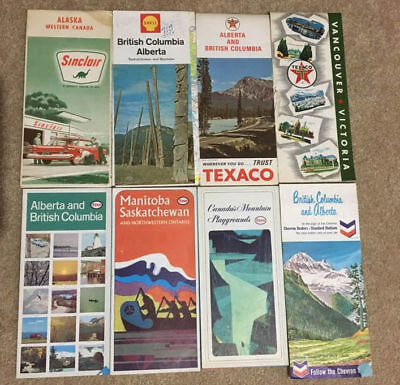 Vintage Gas Station Maps for Canada from the 1960's