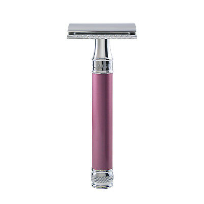 Edwin Jagger - Pink Rose Pearl Effect DE Safety Razor in Gift Box