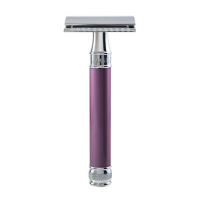 Edwin Jagger - Lilac Pearl Effect DE Safety Razor in Gift Box