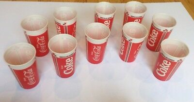 Vintage Drink Coca Cola Wax Paper Cups Lily Lot of 10 Coke