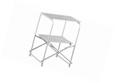 One Size Easy Camp 670190 Beauvais Camping Kitchen Table Grey