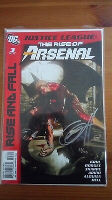 JUSTICE LEAGUE the rise of Arsenal #3 signed by Greg Horn 21/100