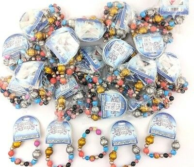 Job Lot Bulk Wholesale 48 X Surf Festival Colourful Boho Chunky Bracelets S124