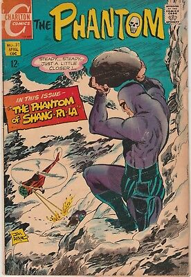 Charlton THE PHANTOM #31 Good Plus/Very Good Minus condition, 1969