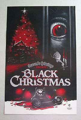 Black Christmas Ghoulish Gary Pullin Poster Art Fan Expo Comic Con Promo 2015