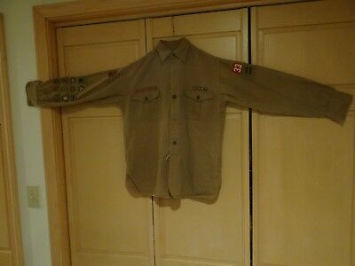1930's Vintage Men's Boy Scouts Of America Shirt Change Buttons Gussets 11 MB's