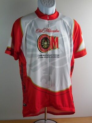 b5f489333 Primal Wear Old Milwaukee Beer Cycling Jersey Mens jersey shirt 3 rear  pocket XL