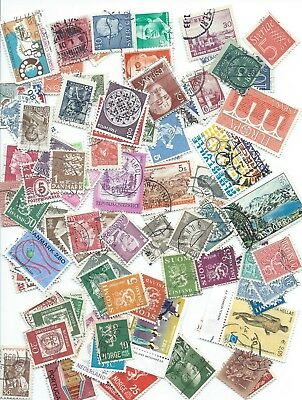 Europe 100 stamps, all different.