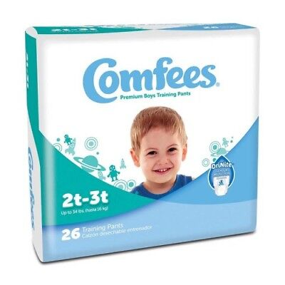 Comfees Boy Training Pants - Size 2T-3T Part No. CMF-B2 Qty  Per Package