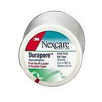 """Durapore Silk-like Cloth First Aid Surgical Tape 1"""" x 10 yds. (1/EA)"""