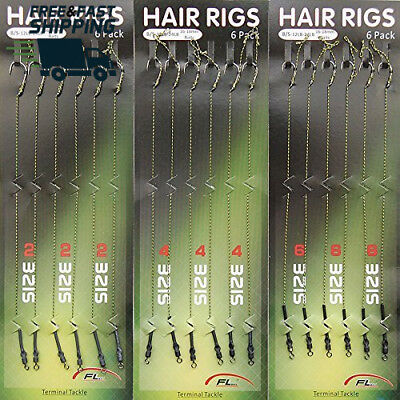 Shaddock Fishing ® 18pcs Carp Hair Rigs Braided Line Thread 8340 High Carbon...