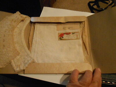 Two Antique Handkerchiefs Plus 2 Embroidered Collars / A Gift to Grandmother