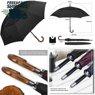 G4Free 50 Inch Automatic Open Classic Umbrella Double Canopy Vented...