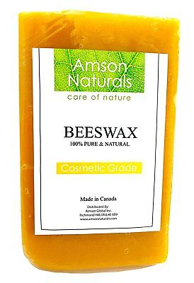 BEESWAX (Made in Canada)- by Amson Naturals-100% Pure & Natural Cosmetic Grade,