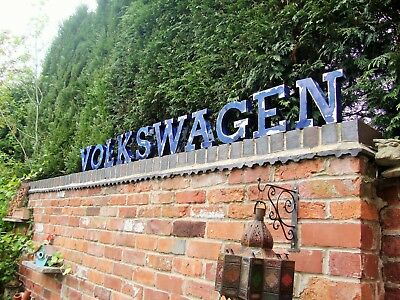 VOLKSWAGEN sign vw dealership sign metal letters vw sign VOLKSWAGEN og TO CLEAR