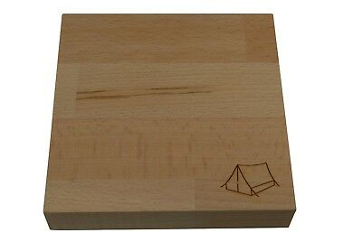 Mini Camping Tent Chopping Board - Solid Beech Chopping Board for Tent Camping