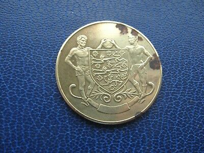 Leeds F.a. Cup Football 1872-1972 Winners Large Gold Coloured Medal Token Coin