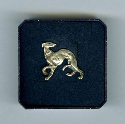 Vintage Silver Greyhound Italian IG Whippet Tac Pin from London England Dog