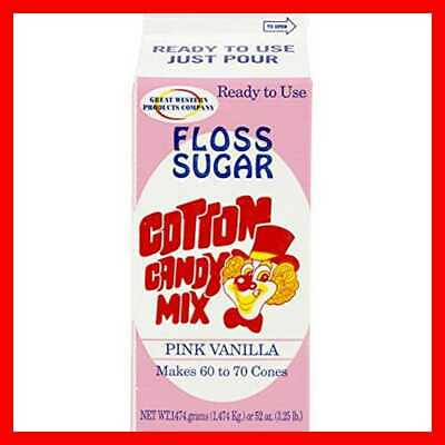 """CE Floss Sugar PINK Vanilla 1Ct Cotton Candy 4"""" Height Width 9"""" Length PARTY"""