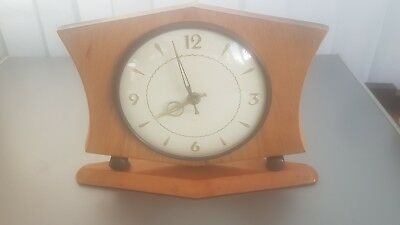 Vintage 1950's - 60's art decor SMITHS 8 day mantle clock