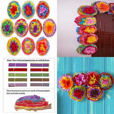 Cinco De Mayo Decorations Fiesta Tissue Pom Paper Flowers Mexican Party Supplies