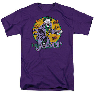 THE JOKER HA HA Officially Licensed Vintage Batman Comics Adult T-Shirt SM-5XL