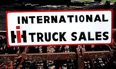 Vintage Antique Metal INTERNATIONAL HARVESTER TRUCK SALES  SIGN 36""