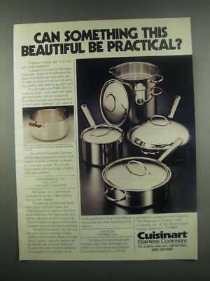 1984 Cuisinart Commercial Stainless Cookware Ad