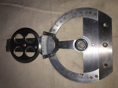 Bruning German Machinist /Drafting double Protractor ''No reserve'' !