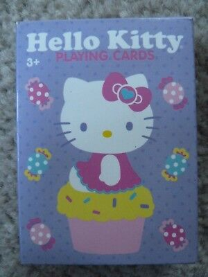 Sanrio Hello Kitty Deck of Playing Cards Purple Cupcake Candy