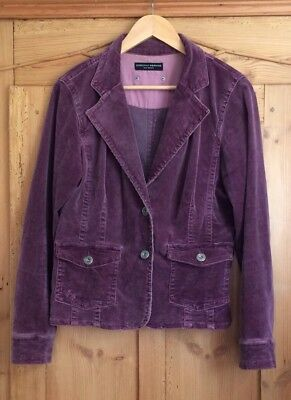 Dorothy Perkins French Lavender Pink Distressed Corduroy jacket - Size 12 (40)