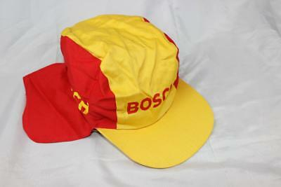 Vintage 80s BOSCH CYCLING CLASSIC CAP / HAT  New Old Stock NOS Fixie Retro Racer