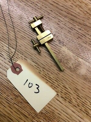 "Fine Vintage Solid Brass 3"" Clamp Tool Japan Clock Repair Carpentry Old Stock"