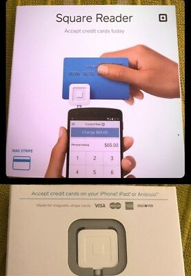 Square Credit Debit Card Reader for Apple iPhone and Android - White