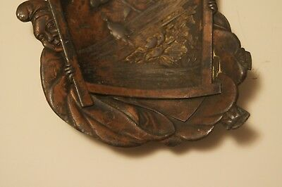 Vintage/Antique Japanese Mixed Copper/Silver/ Bronze Tray Birds/Trees - Signed